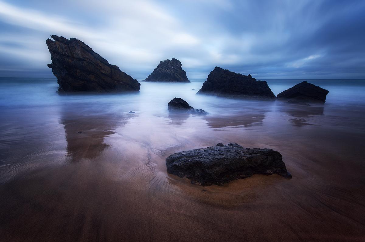 Praia da Adraga Blue Hour - Landscape Photography